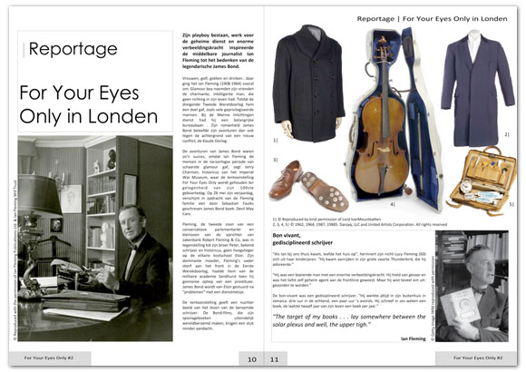 james bond magazine page