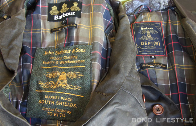 Barbour X To Ki To Commander label logo