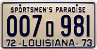 007 981 license plate jaws replica
