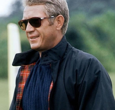 Steve McQueen Thomas Crown Affair Baracuta jacket Persol 714 sunglasses