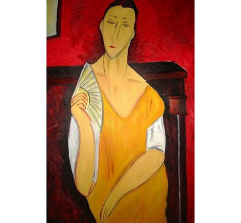 woman with fan modigliani spectre skyfall