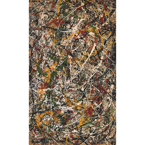 jackson pollock number 3 tiger