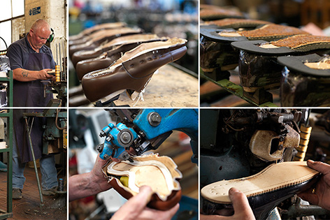 crockett jones making shoe