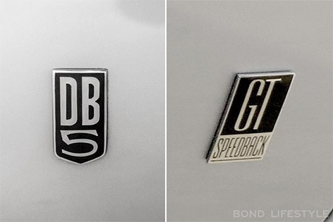 aston martin db5 david brown speedback gt logo emblem badge