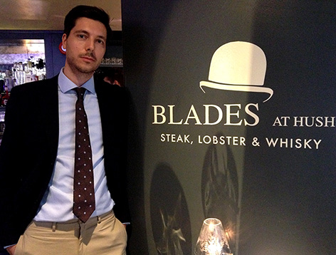 dining at blades hush mayfair