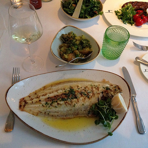Grilled Dover Sole M James Bond Blades menu restaurant