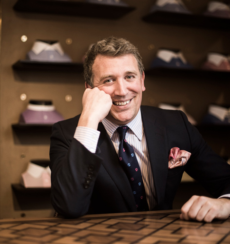 James Cook, Turnbull & Asser's Davies Street store manager