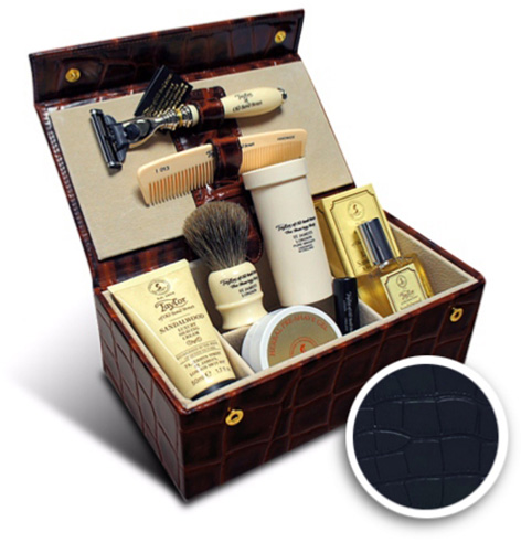 taylor of bond mock croc grooming box