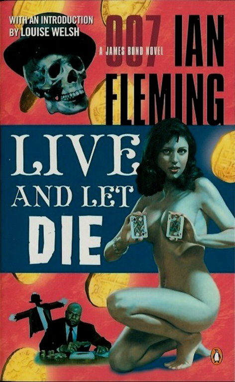 Live Let Die book cover ian fleming james bond
