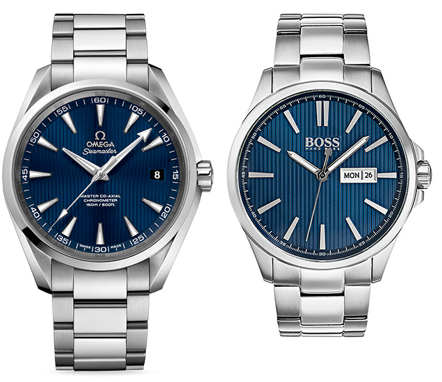 Affordable alternative budget Omega Seamaster Aqua Terra Hugo Boss The James