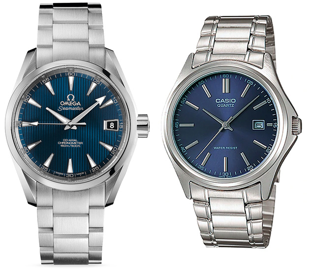 Omega Aqua Terra affordable alternative budget Casio MTP-1183A-2A