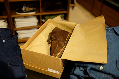 Drakes Crosby Moc-Toe Brown Suede in box