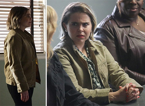 Mae Whitman as Annie Marks wears Rogue Territory Waxed Ridgeline Supply Jacket on Good Girls s3 e8