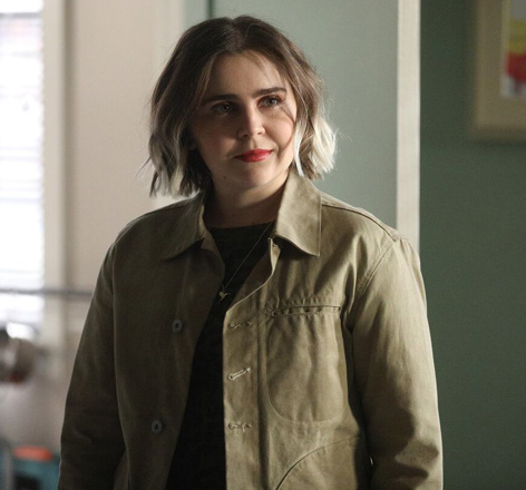 Mae Whitman as Annie Marks wears Rogue Territory Waxed Ridgeline Supply Jacket on Good Girls
