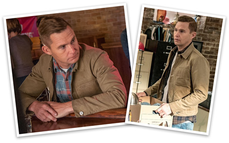Chicago PD Brian Geraghty Rogue Territory Lined Wax Chicago PD Brian Geraghty Rogue Territory Lined Waxed Ridgeline Supply Jacketed Ridgleine Supply Jacket