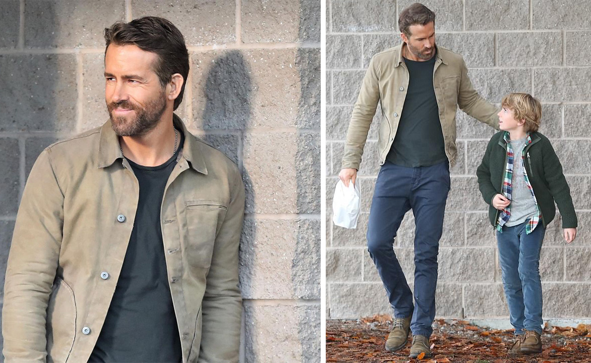 Rogue Territory Supply Wax Jacket Ryan Reynolds The Adam Project Netflix series