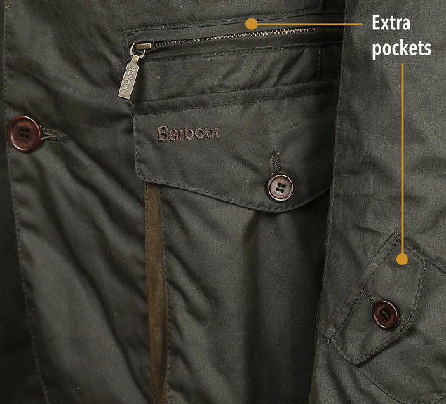 Barbour 125th Anniversary edition pockets
