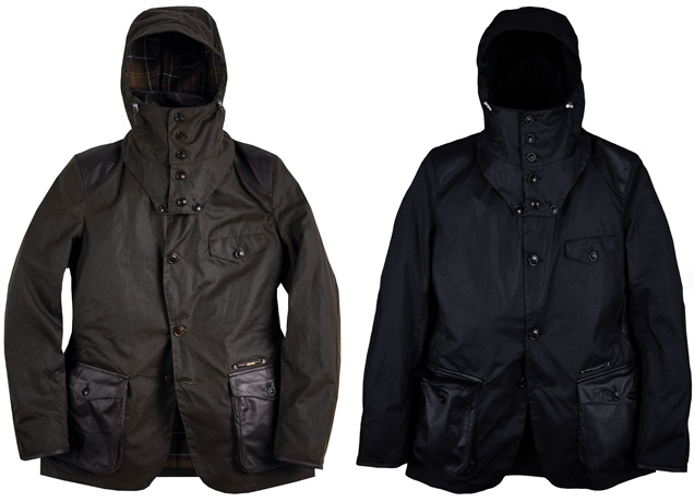 Barbour Supa Commander Gold Standard Green and Black