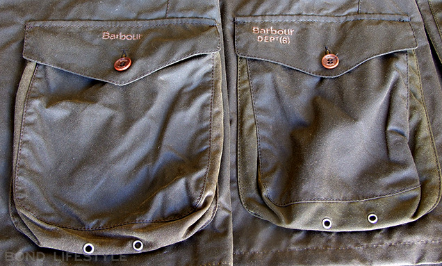 Logo on pocket difference between Barbour X To Ki To and Commander
