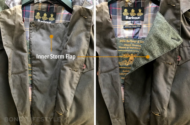 Barbour X To KI To jacket large storm flap
