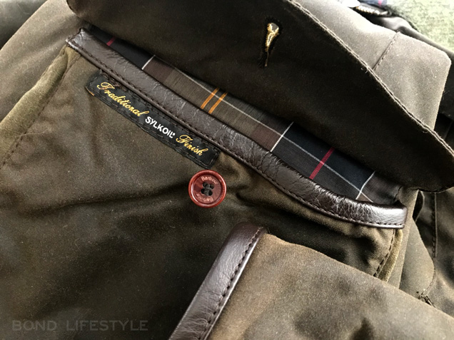 Barbour X To Ki To jacket leather trim sleeves pockets