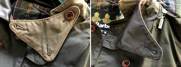 Barbour X To KI To jacket triangle small storm flap collar