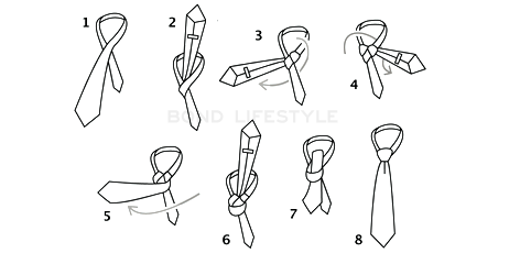 how to tie a windsor tie knot