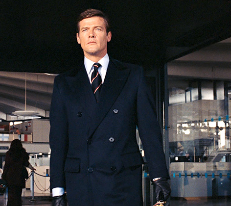 Roger Moore Live And Let Die navy suit