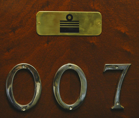 007 brass plate admiral hotel office