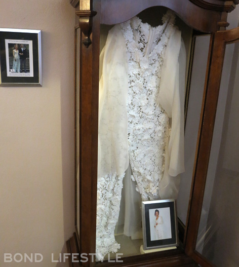 Tracy's wedding dress