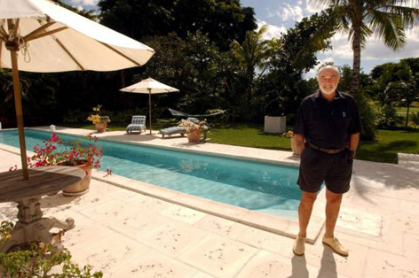 Sir Sean Connery Bahamas villa pool