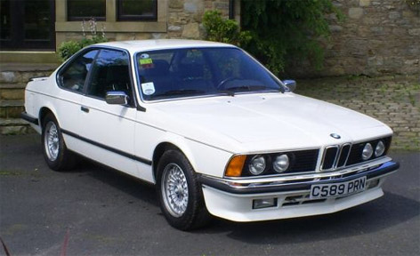 BMW 635 CSI Sean Connery Alpine White