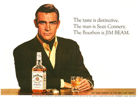Sean Connery Jim Bean
