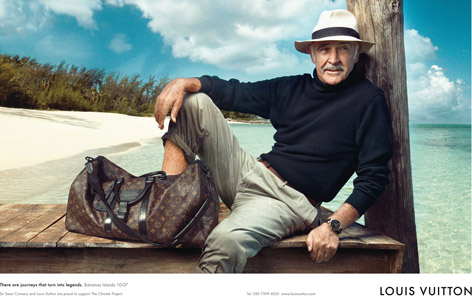 Sean Connery Louis Vuitton Annie Leibowitz Bahamas