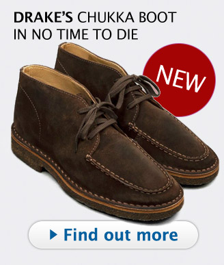 Drakes chukka boots no time to die