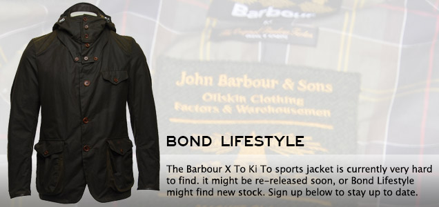 Barbour SkyFall Daniel Craig jacket