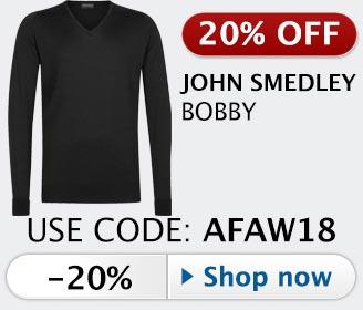 20% off John Smedley Bobby v-neck sweater