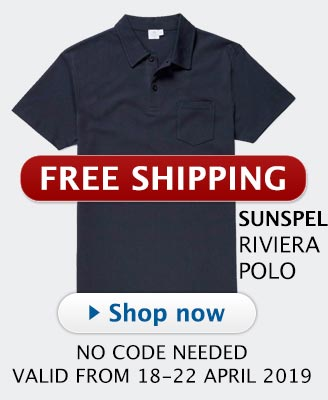 Sunspel Free Shipping