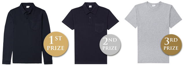 Sunspel contest competition prizes riviera polo shirt