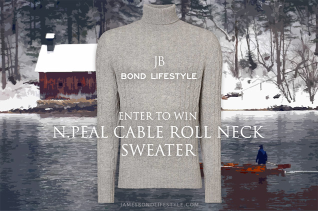 67867f086f347a #37 Bond Lifestyle Contest - Win a cashmere N.Peal Cable Roll Neck Sweater