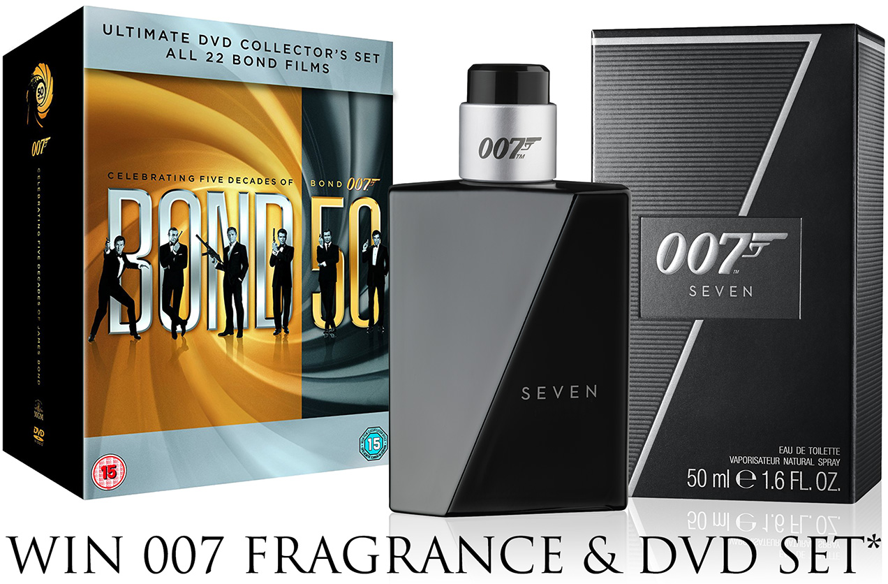 win james bond 007 seven fragrance and dvd collection set