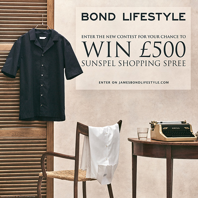 win sunspel 500 shopping spree ian fleming sea island cotton