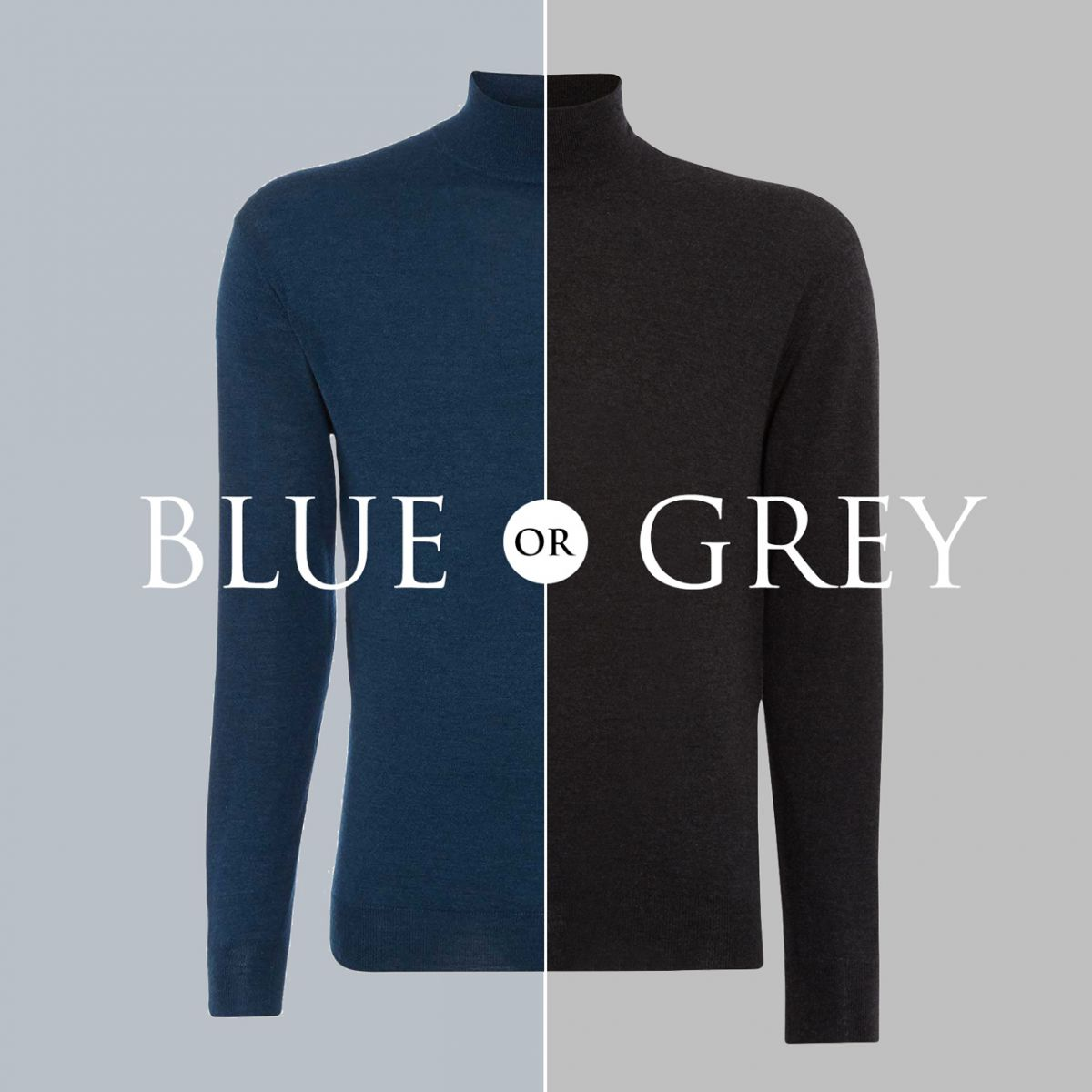 win a npeal fine gauge mock turtle sweater in grey or blue
