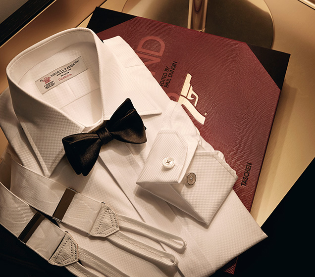 win turnbull asser shirt bow tie