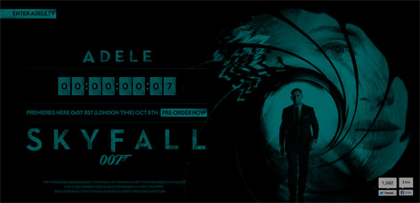 adele skyfall website countdown
