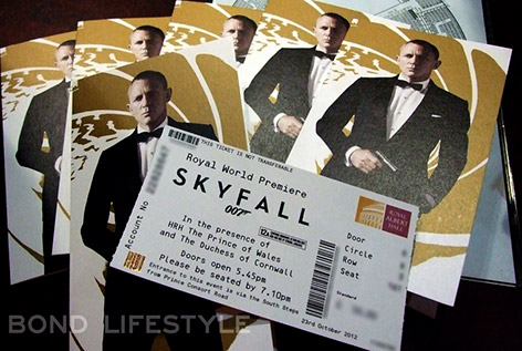 SkyFall premiere 23 october 2012