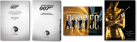 bond quad posters 50th anniversary 2