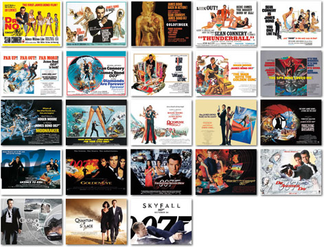 bond quad posters 50th anniversary 3