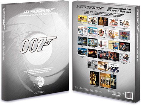 bond quad posters 50th anniversary