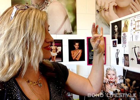 Sophie Harley in her studio